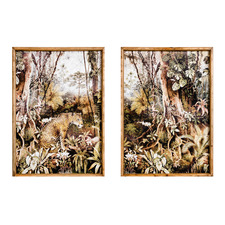 2 Piece Jungle Scenes Framed Printed Wall Art Set