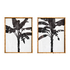 2 Piece Nightshades Palm Framed Printed Wall Art Set