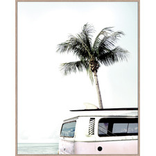Combi Beach Love Framed Canvas Wall Art