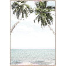 Palms In Love Framed Canvas Wall Art