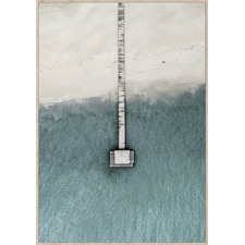 A Jetty Far Away Framed Canvas Wall Art