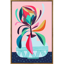 Protea Framed Canvas Wall Art by Rachel Lee