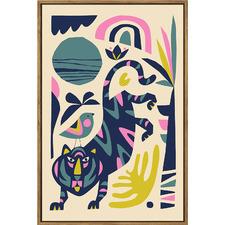Tiger Framed Canvas Wall Art by Rachel Lee