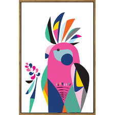 Galah Framed Canvas Wall Art by Rachel Lee