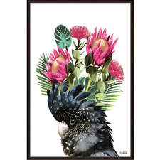 Artist Lab Cockatoo Flower Framed Canvas Wall Art