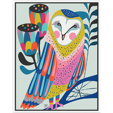 Artist Lab Owl Framed Canvas Wall Art