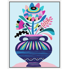 Artist Lab Flowers in Vase Framed Canvas Wall Art