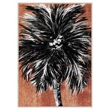 Mirage Palm Framed Embellished Canvas Wall Art