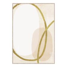 Mustard Ring Abstract Framed Canvas Wall Art