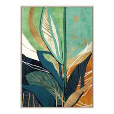 Fig Leaf Study Framed Canvas Wall Art