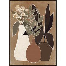 Vase Study B Framed Canvas Wall Art
