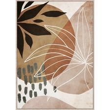 Earthen Abstract Framed Canvas Wall Art