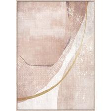 Natural Boulder Abstract Framed Canvas Wall Art