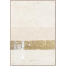 Mustard Strip Abstract Framed Canvas Wall Art