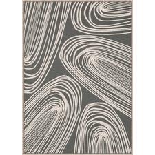 Slate Swirls Framed Canvas Wall Art