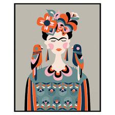 Frida Kahlo Framed Canvas Wall Art