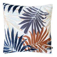 Light Autumn Palm Fronds Cotton Outdoor Cushion