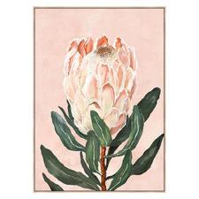 King Protea Stem Framed Canvas Wall Art