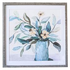 Playful Plant Framed Canvas Wall Art