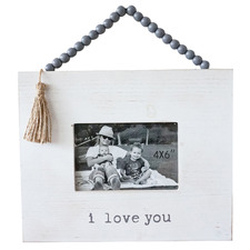 "I Love You 4 x 6"" Hanging Photo Frame"