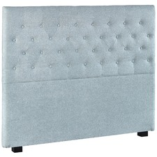 French Blue Paddington Upholstered Bedhead