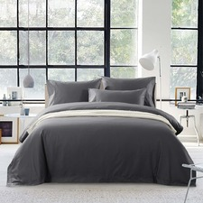Charcoal Egyptian Cotton Quilt Cover Set