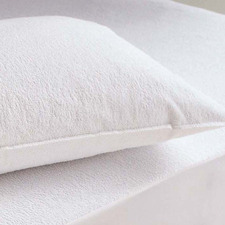 White Waterproof Bamboo Pillow Protectors (Set of 2)