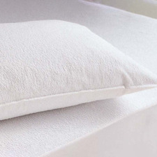 White Waterproof Cotton Pillow Protectors (Set of 2)