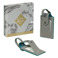 Ash Grey Luggage Tags (Set of 2)