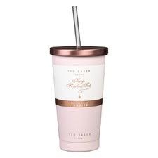 480ml Pink Tumbler & Straw