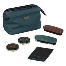 Teal Shoe Shine Kit