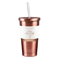 480ml Rose Gold Tumbler & Straw