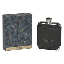 Black Brogue Monkian Hip Flask