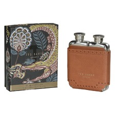 Brown Brogue Kiku Double Hip Flask
