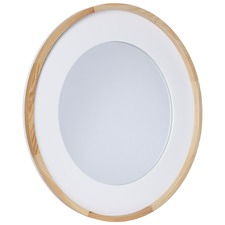 Round Resin & Wood Mirror
