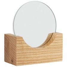 Round Vanity Mirror & Stand