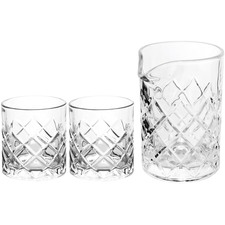 3 Piece Urai Mixing & Rocks Glasses Set