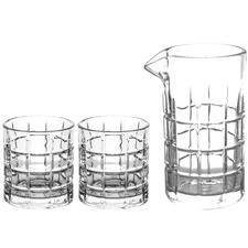 3 Piece Uibi Mixing & Rocks Glasses Set