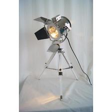 Designer Campaign-Style Navigator Wooden Tripod Table Lamp