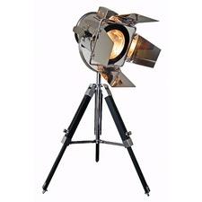 Black & Chrome Film Star Tripod Table Lamp