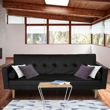 Black Hailey 3 Seater Sofa Bed