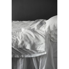 White Linen Quilt Cover Set