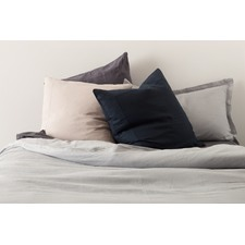 Cement Linen Quilt Cover Set
