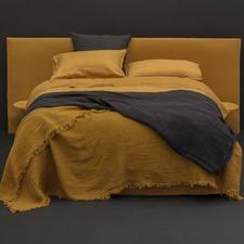 Mustard Linen Quilt Cover Set