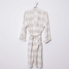 Ivory & Natural Linen Poolside Robe
