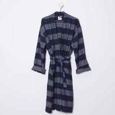 Navy & White Linen Poolside Robe