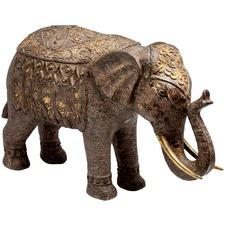 Brushed Gold Ornamental Elephant