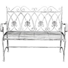Marseilles Metal Outdoor Bench