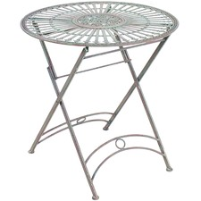 Round Outdoor Metal Table Intended Round Provence Outdoor Metal Table Furniture Temple u0026 Webster