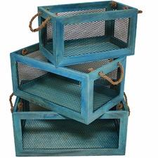 3 Piece Nesting Lorette French Crates Set